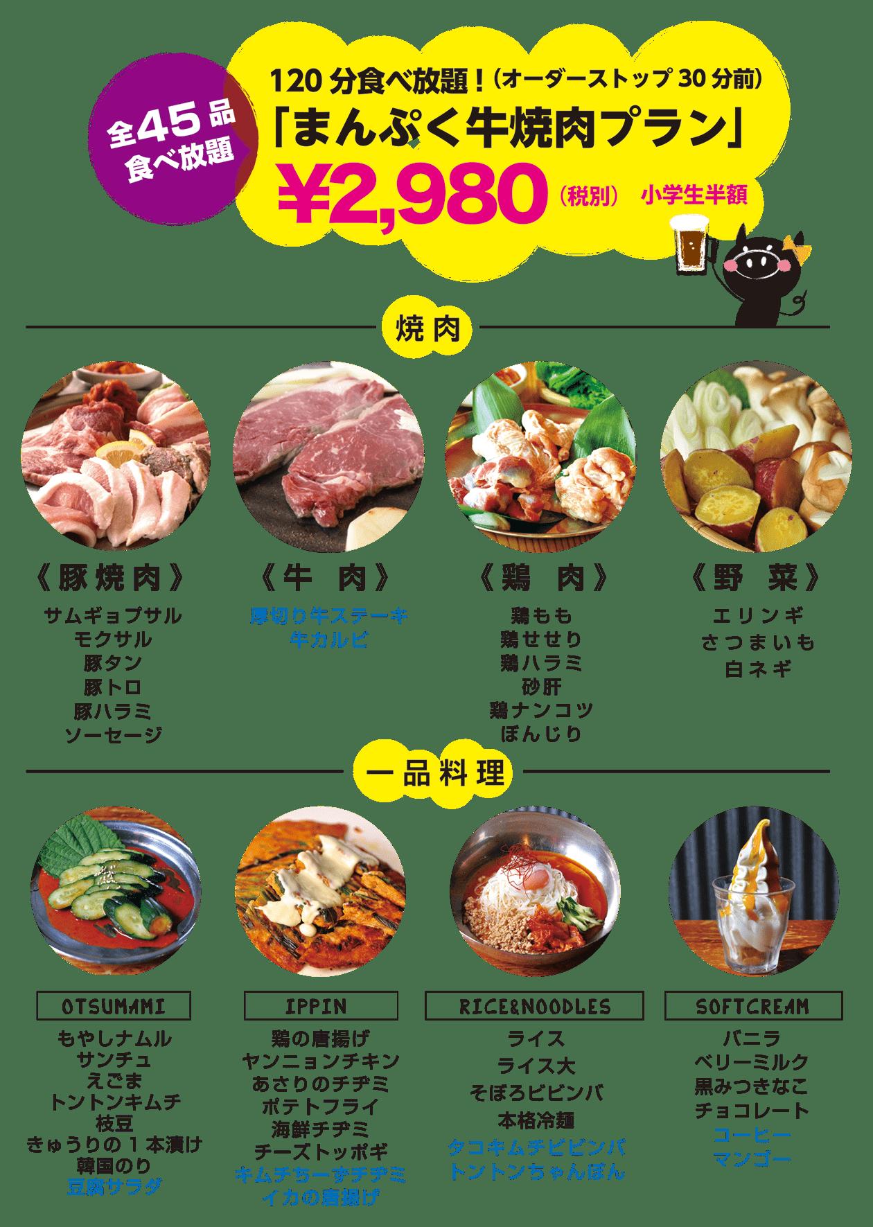 韓国焼肉トントンのまんぷく牛焼肉プラン